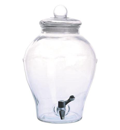 Láhev sklo+kohoutek APPLE 6,5 l