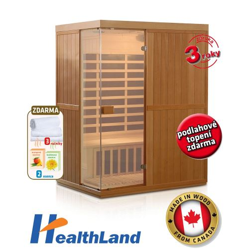 Domácí infrasauna HealthLand DeLuxe 3300 Carbon