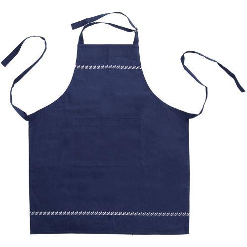 Zástěra kuchyňská bavlna MODROTISK