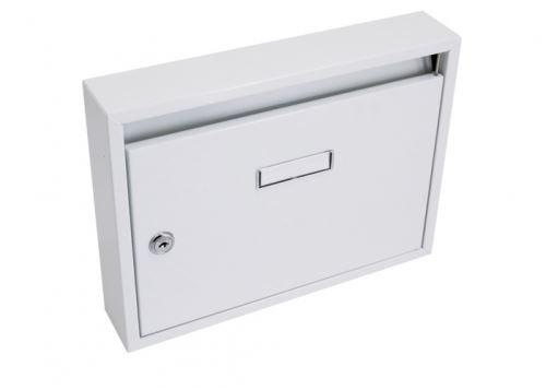 Schránka poštovní G21 paneláková 320x240x60mm bílá bez děr