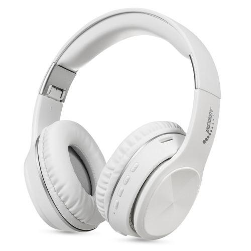 Bílá bezdrátová bluetooth sluchátka V5.0 + EDR Audiocore AC705 W