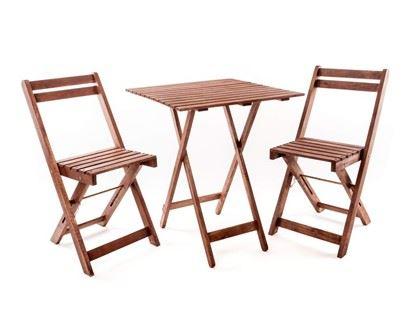 Balkonový set Acacia se čtvercovým stolem