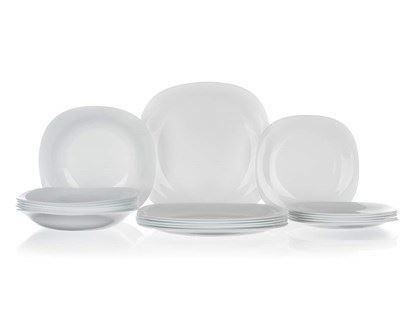 Bormioli Sada talířů PARMA bílá 18 ks