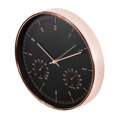 Nástěnné hodiny s teploměrem a vlhkoměrem CE CE70 G