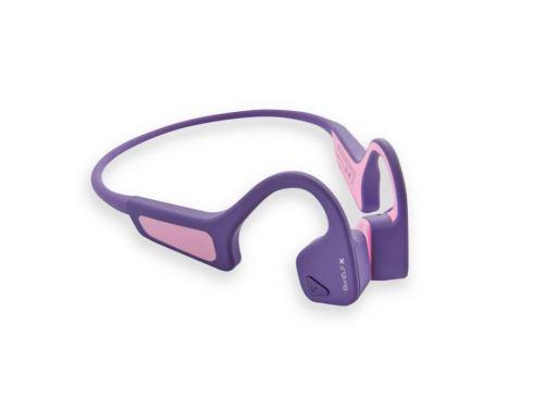 AMA BonELF X, bezdrátová sportovní sluchátka před uši, fuksiová