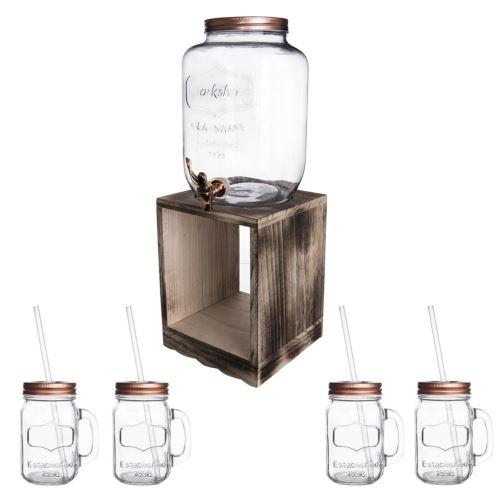 Láhev sklo 8,8 l+kohoutek+stojan 4+1