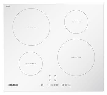 Indukční deska Concept vestavná se sliderem IDV2760WH White