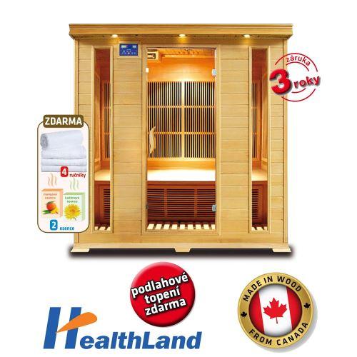 Domací Infrasauna HealthLand DeLuxe 4004 Carbon
