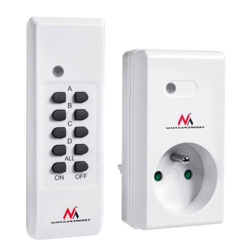 Dálkově ovládaná zásuvka Maclean MCE151 max.30 m
