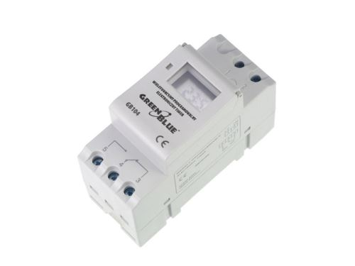 Digitální časový spínač GreenBlue GB104 Timer na DIN lištu