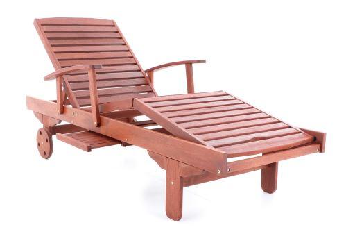 Pohodlné dřevěné lehátko VeGA Meranti Spa