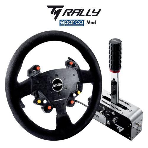 Thrustmaster TM Rally Race Gear Sparco Mod, Volant TM Rally Add-On R383 + řadící