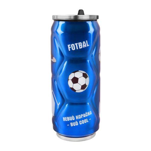 Termoska-plechovka ner. 0,5l fotbal
