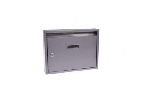 Schránka poštovní G21 paneláková 320x240x60mm šedá bez děr