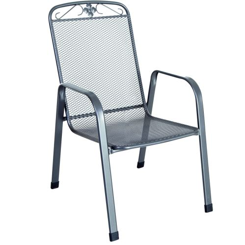 Stohovatelná židle z tahokovu, tmavě šedá 75 x 57 x 93 cm MWH Savoy 879000