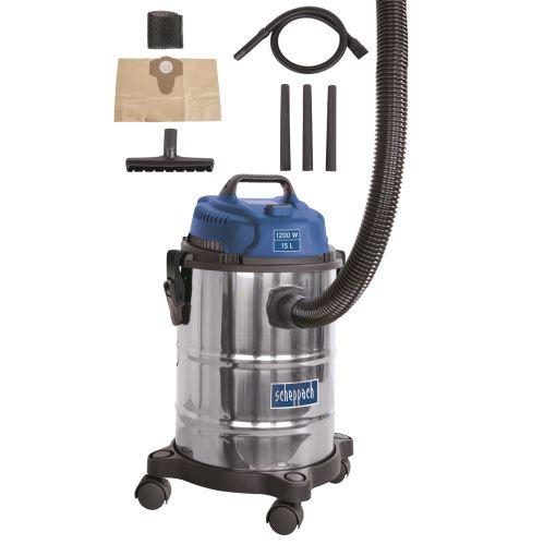 Průmyslový vysavač na suché i mokré vysávání Scheppach ASP 15 ES