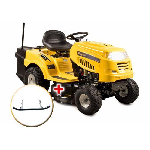 Travní traktor Riwall PRO RLT 92 T se zadním výhozem a 6-ti stupňovou převodovkou Transmatic + nárazník
