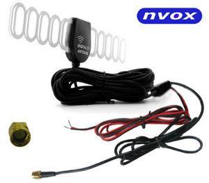 Automobilová DVB-T anténa s 28dB zesilovačem NVOX T115