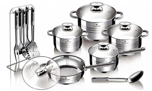 Sada nádobí nerezová 17 ks Gourmet Line BLAUMANN