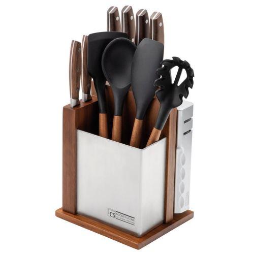 Sada nožů a kuchyňského náčiní ve stojanu 12 ks CS Solingen SOLTAU CS-080228