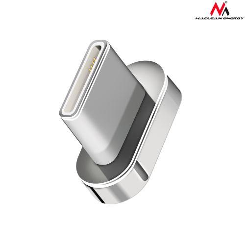 Šedá magnetická zástrčka typu C Maclean MCE164