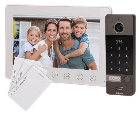Bílý domovní video telefon Orno OR-VID-EG-1052/W