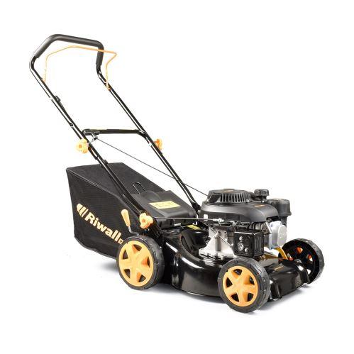 Travní sekačka 2v1 s benzinovým motorem bez pojezdu Riwall PRO RPM 4234 P PM11B2001077A