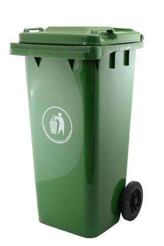 Plastová popelnice G21 GA-120 L tmavě zelená 639094