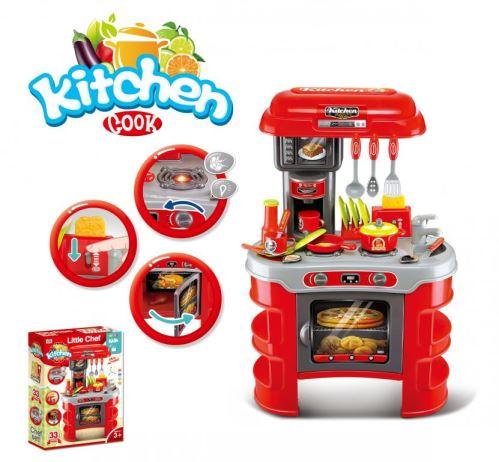 Dětská kuchyňka G21 Malý kuchař červená